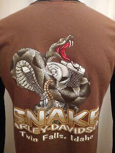 Snake Harley Davidson Twin Falls Idaho Long Sleeve Shirt Motorcycles