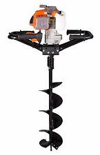 """New KASEI Earth Auger 3HP 63CC 2 Man Gas Hole Digger  w/8""""  bits plus extension"""