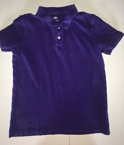 Boys Polo Shirt L 10-12 Old Navy Purple