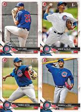 2018 Bowman CUBS Team Set (Vets, RCs, Prospects, Chrome) 10 Cards