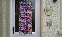 Multi Coloured Summer Bodycon Style Dress By Ruiyige Size 16 ( chest 19.5) BNWT