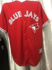 """Stitched Majestic Toronto Blue Jays CANADA Day CoolBase Red Jersey XL 50"""" chest"""