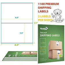 1000 +100 Half Sheet Labels Address Shipping Adhesive Sticker Inkjet 8.5x5.5 FBA