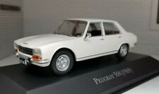 1:43 0 O Scale Diecast Model Car White Peugeot 504 Saloon 1969 Oxford Atlas Ixo