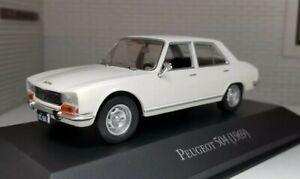 1:43 0 O Scale Diecast Model Car White Peugeot 504 Saloon 1969 Oxford Atlas Ixo