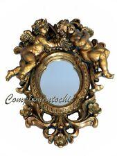 Specchio oro con putti angeli Barocco specchietto dorato