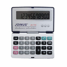 JS-700 Portable Folding 12-Digit Large Word Display Battery Powered Calculator