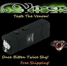 Viper Black 2900 Million volt Rechargeable Stun Gun LED light w/ taser Holster