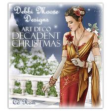 Debbi Moore Designs ~ ART DECO decadente Natale ~ DECORAZIONI CD ROM NUOVO
