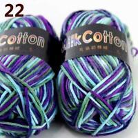 AIP New 2Skeinsx50g Soft DK Baby Cotton Crochet Yarn Hand Wool Scarf Knitting 22