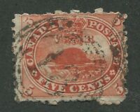 """CANADA #15 USED 4-RING NUMERAL CANCEL """"18"""""""
