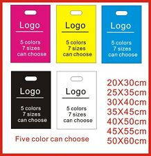 Custom print one color logo plastic bag clothes packing bag  READ Details first