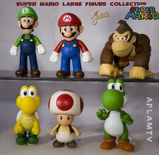 Super Mario Large Figures Goldie Luigi Yoshi Toad Donkey Kong twin packs lot