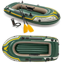 Intex Seahawk 2 Set Schlauchboot + Pinna + Pompa Angelboot Gommone per 2 Persone