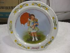 "Sarah Stilwell Weber Calendar Collection ""April"" Collectible Plate 1986 LE #6039"