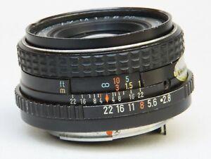 ASAHI PENTAX  K BAYONET FIT 28mm f2.8 SMC (SUPER MULTI COATED) WIDE ANGLE LENS