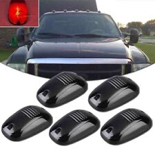 (5) LED Red-IN Black Smoked Lens Roof Marker Blue Lights For Car Truck SUV 4x4