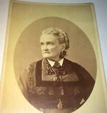 Rare Antique Famous Lesbian Actress Charlotte Cushman Gay Interest Cabinet Photo