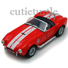 Kinsmart 1965 Shelby Cobra 427 SC 1:32 Diecast Toy Car Red With White Stripes