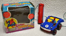 Rare OFFICIAL SPIDER-MAN BUGGY Battery Op Remote Control w DISPLAY BOX 1974 AHI