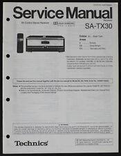 Technics SA-TX30 Original Récepteur Av Manuel de Service/Diagram/Pièces List