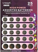 Loopacell Lithium Assorted 3V CR2032 CR2025 CR2450 CR1620 CR1632 Batteries