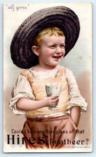 1890's Antique HIRES ROOT BEER Victorian SODA POP Advertising TRADE CARD