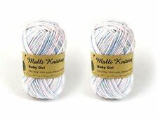 Malli 8ply Acrylic Knitting and Crochet Yarn 100g - Pink Blue White Mix