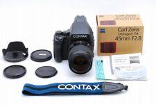 TOP MINT Contax 645 Medium Format MF-1 MFB-1 Distagon 45mm f2.8 from Japan a797