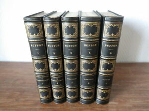 BUFFON Oeuvres Completes 5 Volumes (sur 6)  FURNE 1842 Planches Couleurs