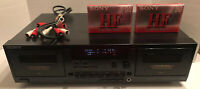 Sony TC-WR590 Stereo Cassette Deck Twin Tape Player Spares Or Repairs (works)