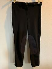 TUFFRIDER Riding BREECHES Pants Ladies Horse Black Ribbed Velcro Ankle Hem 28