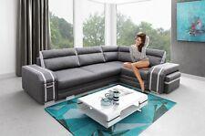 ECKSOFA Couch mit Schlaffunktion Eckcouch Polstergarnitur TOP Design -AVATAR
