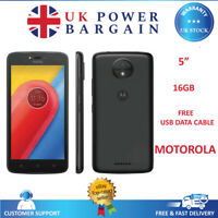 Motorola Moto C 16GB 4G LTE WiFi Unlocked Sim Free Smartphone XT1754 - Black