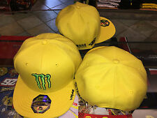 CAP HAT OFFICIAL MONSTER MOTOGP 2016 V. ROSSI FLAT VISOR SIZE U ADJUSTABLE
