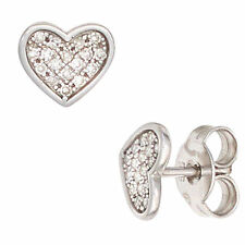 NEU Diamanten Herz Ohrstecker Ohrringe Weißgold 585 echt Gold Diamant 14 Karat