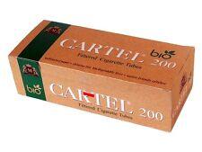 Empty Cigarette Cartel BIO 1 ΒΟΧ 200 Unbleached Filtered King SizeCigarette Tube