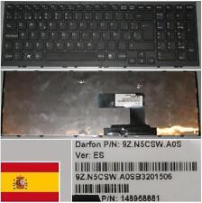 Tastiera Qwerty Spagnola SONY VAIO VPC - EL 9Z.N5CSW.A0S 148968881 Nero