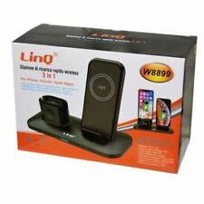 Stazione Di Ricarica Rapida Wireless 3in1 Iphone Airpods Apple Watch Linq w8899