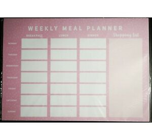 A4 Weekly Planner Meal Diary Pad Notes To Do Shopping List Organiser Food 26Page