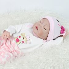 Full Body Reborn Baby Girl Doll Sleeping Vinyl Silicone Handmade Washable Gift