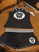 New York Jets NFL Women's Pajama Tank Top & Shorts Sleepwear Set Small - NWT