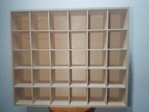 NEW Exta Large Display 30 Compartments Shelf Toy Storage Tray Unit Wall Workshop