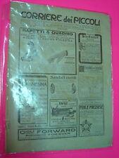 CORRIERE DEI PICCOLI anno 1911 n. 10 con sovracopertina pubblicitaria