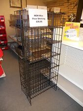 Black Wire Shelving Display
