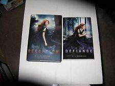 Deception by C. J. Redwine (2013, Hardcover) + Defiance SIGNED 1st/1st