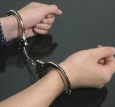 FD648 Silver METAL Role Play Police Handcuffs with Keys Adults Playing Free Ship