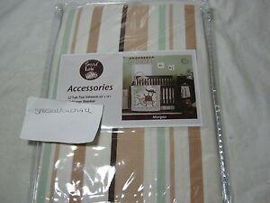 NEW Trend Lab Baby Morgan Window Tab Top Valance 53x15 - Sage Ivory Brown Stripe