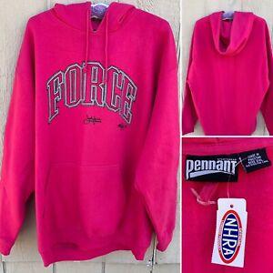 Force John Force Racing NHRA Pullover Hoodie Sweatshirt Ladies Hot Pink 2XL