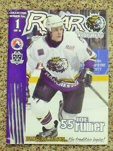 2001-02 Manchester Monarchs 1st AHL season Joe Rullier cover [LA Kings] program
